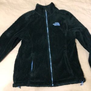 Fuzzy black North Face Zip Up